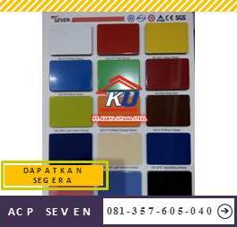 Supplier ACP Seven Tebal Coating 0,21 mm PE Murah Ready All Varian